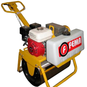Rolo Compactador Simple Motor 9hp 600mm||Rolo Compactador Simple Motor 9hp 600mm